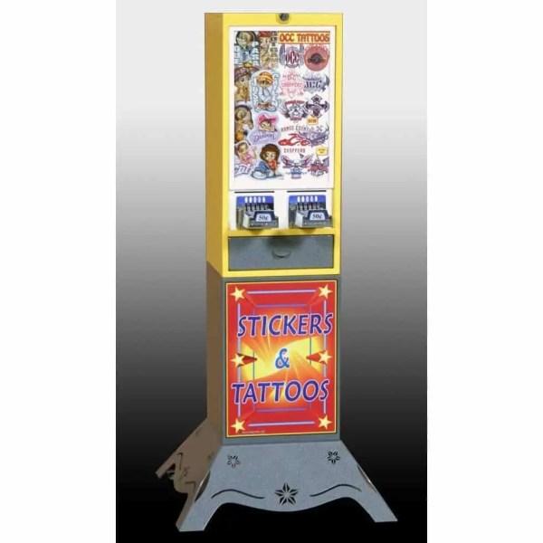 Impulse 2 Column Sticker Tattoo Vending Machine With Deluxe Base | moneymachines.com