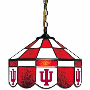Indiana Hoosiers Stained Glass Swag Hanging Lamp | moneymachines.com