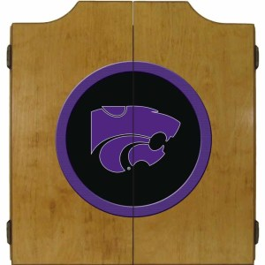 Kansas State Wildcats College Logo Dart Cabinet | moneymachines.com