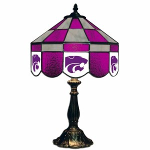 Kansas State Wildcats Stained Glass Table Lamp | moneymachines.com