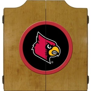 Louisville Cardinals College Logo Dart Cabinet | moneymachines.com