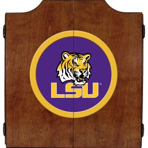 LSU Tigers College Logo Dart Cabinet | moneymachines.com