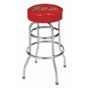 Maryland Terrapins College Logo Double Rung Bar Stool | moneymachines.com