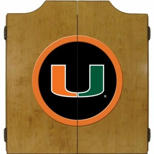 Miami Hurricanes College Logo Dart Cabinet | moneymachines.com