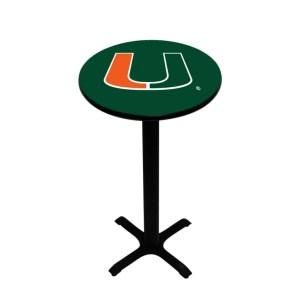 Miami Hurricanes College Logo Pub Table | moneymachines.com