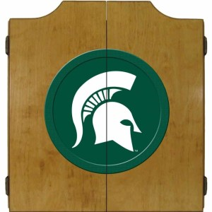 Michigan State Spartans College Logo Dart Cabinet | moneymachines.com