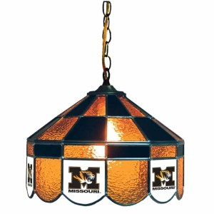 Mizzou Tigers Stained Glass Swag Hanging Lamp | moneymachines.com