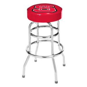NC State Wolfpack College Logo Double Rung Bar Stool | moneymachines.com