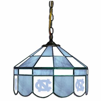 North Carolina Tar Heels Stained Glass Swag Hanging Lamp | moneymachines.com