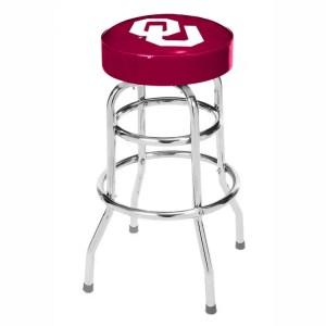 Oklahoma Sooners College Logo Double Rung Bar Stool | moneymachines.com
