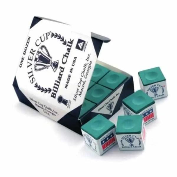 Silver Cup Billiard Cue Chalk - Box of 12   moneymachines.com