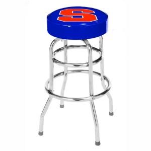 Syracuse Orange College Logo Double Rung Bar Stool | moneymachines.com