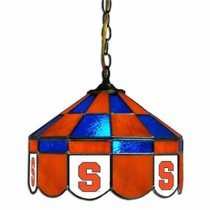 Syracuse Orange Stained Glass Swag Hanging Lamp | moneymachines.com