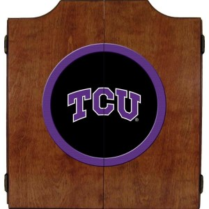 TCU Horned Frogs College Logo Dart Cabinet | moneymachines.com