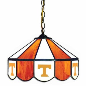Tennessee Volunteers Stained Glass Swag Hanging Lamp | moneymachines.com