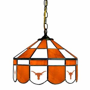 Texas Longhorns Stained Glass Swag Hanging Lamp | moneymachines.com