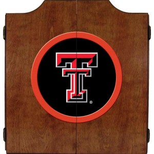 Texas Tech Red Raiders College Logo Dart Cabinet | moneymachines.com