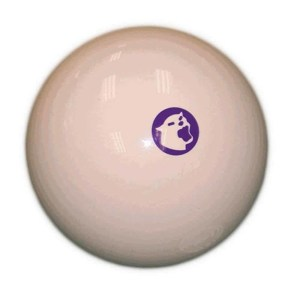"""Valley Cougar Logo Tournament Magnetic 2 1/4"""" Cue Ball by Aramith 