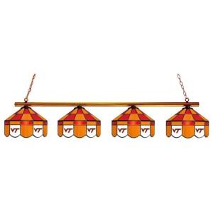 Virginia Tech Hokies Executive Stained Glass Game Table Lamp | moneymachines.com