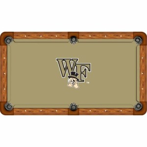 Wake Forest Demon Deacons Billiard Table Cloth | moneymachines.com