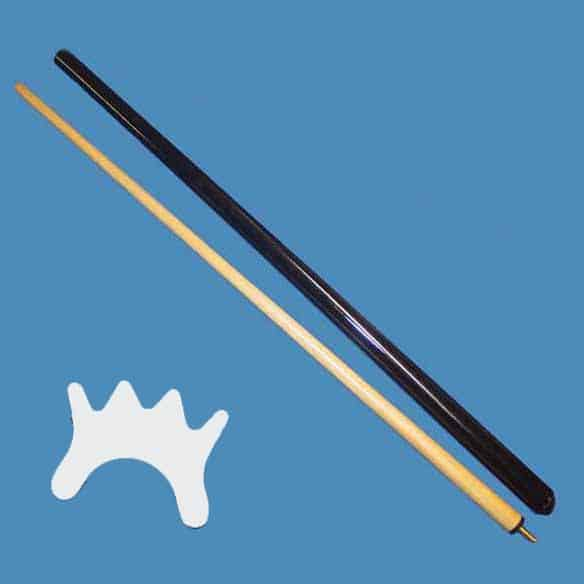 Two Piece Billiard Bridge Stick With White Nylon Bridge Head | moneymachines.com