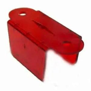 "1 1/2"" Transparent Red Double Pinball Lane Apron | moneymachines.com"