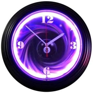 8 Ball Swirl Neon Clock | moneymachines.com