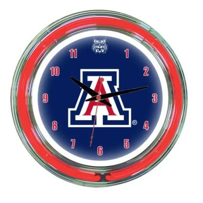 Arizona Wildcats Neon Wall Clock | Moneymachines.com