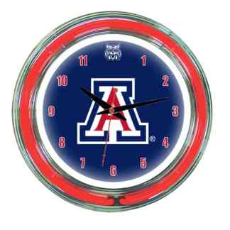 Arizona Wildcats Neon Wall Clock | Moneymachines.com