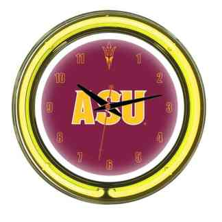 Arizona State Sun Devils Neon Wall Clock | Moneymachines.com