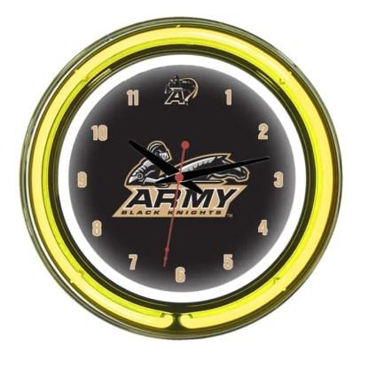 Army Black Knights Neon Wall Clock | Moneymachines.com