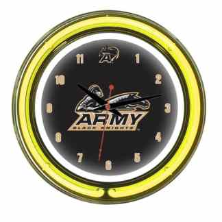 Army Black Knights Neon Wall Clock | Moneymachines.com