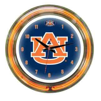 Auburn Tigers Neon Wall Clock | Moneymachines.com