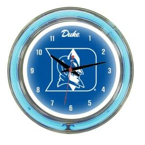 Duke Blue Devils Neon Wall Clock   Moneymachines.com