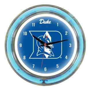 Duke Blue Devils Neon Wall Clock | Moneymachines.com