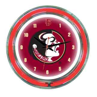 Florida State Seminoles Neon Wall Clock | Moneymachines.com