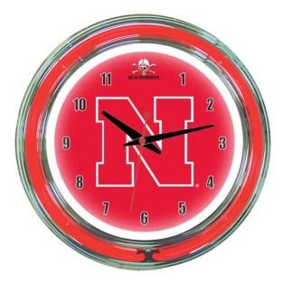 Nebraska Cornhuskers Neon Wall Clock | Moneymachines.com