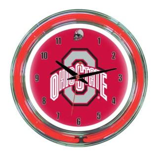 Ohio State Buckeyes Neon Wall Clock   Moneymachines.com