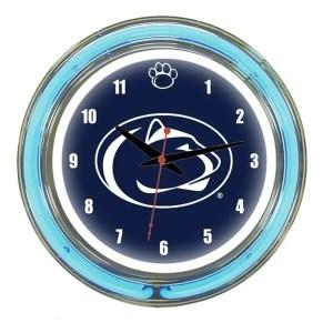 Penn State Neon Wall Clock   moneymachines.com