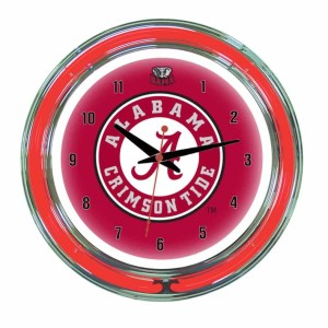 Alabama Crimson Tide Neon Wall Clock | Moneymachines.com