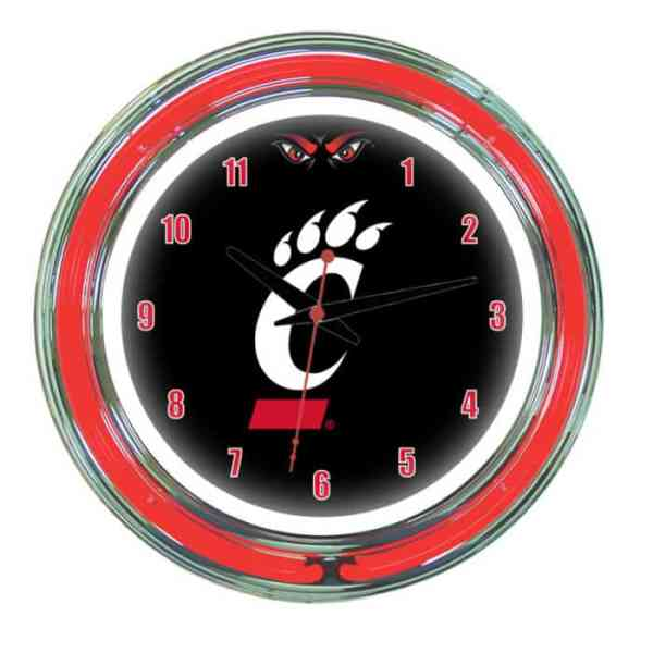 Cincinnati Bearcats Neon Wall Clock | Moneymachines.com