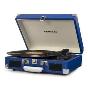 Crosley Cruiser Deluxe Turntable with Bluetooth - Blue Vinyl | moneymachines.com