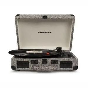 Crosley Cruiser Deluxe Turntable With Bluetooth - Herringbone | moneymachines.com