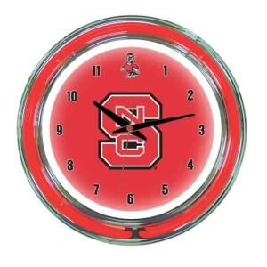 North Carolina State Wolfpack Neon Wall Clock | Moneymachines.com