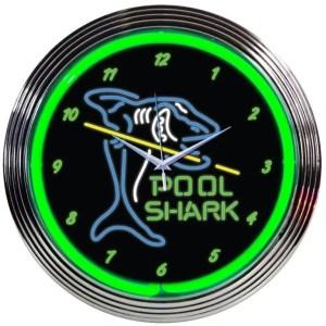 Pool Shark Neon Wall Clock | moneymachines.com