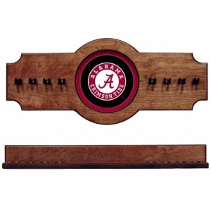 Alabama 2-Piece Cue Rack Pecan Circle A | Moneymachines.com