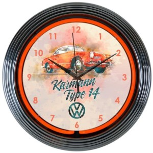 AUTO – VOLKSWAGEN KARMANN NEON CLOCK – 8VWKRM | moneymachines.com