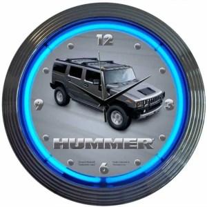 AUTO – XTRA – HUMMER NEON CLOCK – 8HUMMR | moneymachines.com