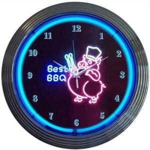 BBQ PIG NEON CLOCK – 8BBQPI | moneymachines.com