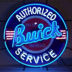 BUICK NEON SIGN WITH BACKING – 5BUIBK | moneymachines.com